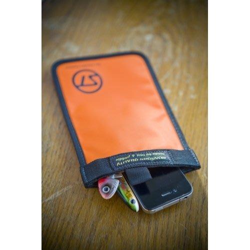 日本Stream Trail 戶外防水袋/手機及貴重物品防水袋SOFT MOBILE橘-可客製化