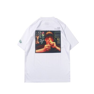 Cover Taiwan 官方直營 420 嘻哈 大麻葉 Chill High 短Tee 短袖 人像 白色 (預購)