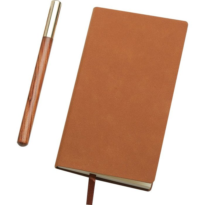 紅木制簽字筆 高檔商務男士金屬中性筆記事本創意禮物定制刻字