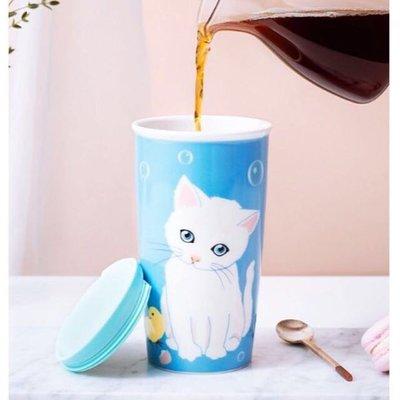 [星巴克代購] 2018 STARBUCKS x PAUL & JOE 星巴克 藍色 貓咪 馬克杯 咖啡杯 台灣