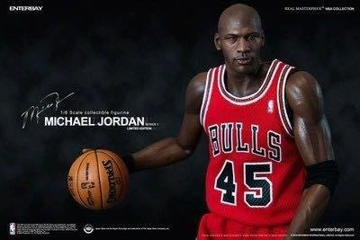 Enterbay NBA Michael Jordan 麥可喬丹 i'm back 紅色45號