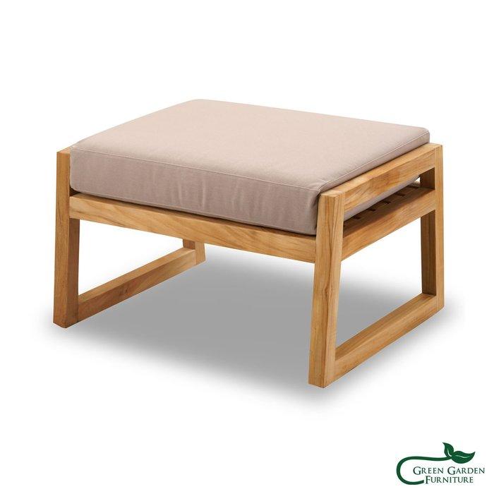 紐約 柚木沙發腳墊椅(大/原色)【大綠地家具】100%印尼柚木實木/無上漆原木款/實木沙發/腳墊椅