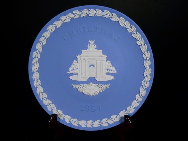 W37 WEDGWOOD  JASPER 藍碧玉年度收藏瓷盤~憲法山Constitution Hill