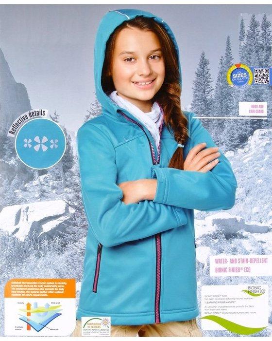 香港OUTLET代購 德國品牌專業戶外沖鋒衣 女童軟殼衣 防風保暖 防水連帽運動服 搖粒絨 拉鍊開衫夾克 外套