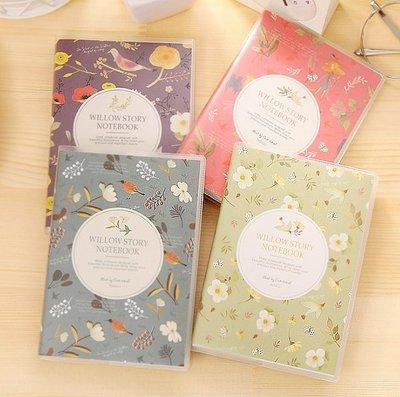 《Jami Honey》【JC1878】法式浪漫花鳥之彩膠套筆記本 『不挑款』
