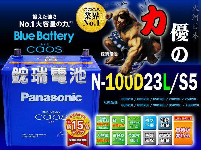 【鋐瑞汽車電池】國際牌 日本製造 銀合金 100D23L Panasonic 馬自達 馬3 充電制御 RAV4 速霸陸