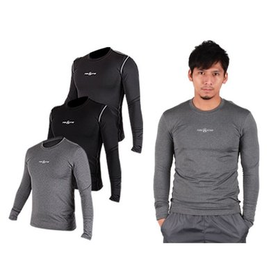【06180047】FIRESTAR 男緊身長袖T恤(慢跑 路跑 運動T恤 ≡排汗專家≡
