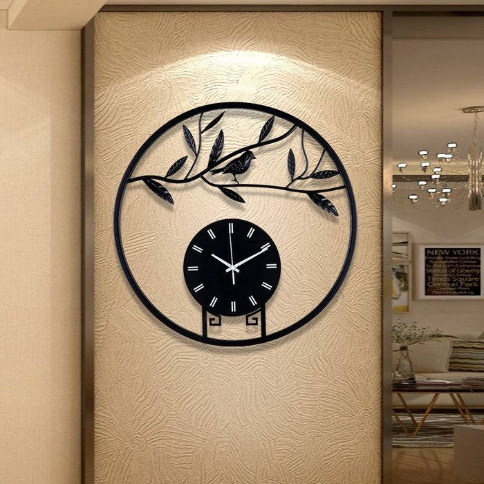 時鐘 掛鐘 掛鐘客廳家用時尚靜音時鐘藝術裝飾中國風掛表新中式個性創意鐘表