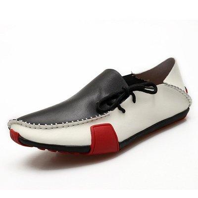 【時尚先生男裝】大碼男鞋新款春夏男士真皮豆豆鞋休閑鞋低幫駕車鞋套腳男鞋 2005240178