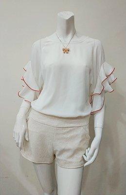 限量1件(活動價135)(對不起 缺貨不補)=EZZ=時尚百搭雪紡女裝 女裝短袖圓領上衣C084