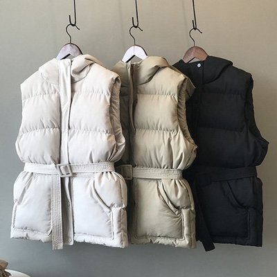 無袖棉襖 絕對好質感棉馬甲背心連帽外套 艾爾莎【TAE8018】