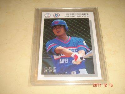 中華職棒 三商虎隊 林琨瀚 1992年奧運代表隊紀念卡 球員卡