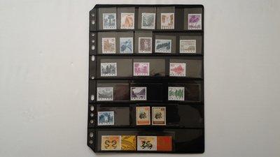 P06 郵票用 黑卡內頁 6格