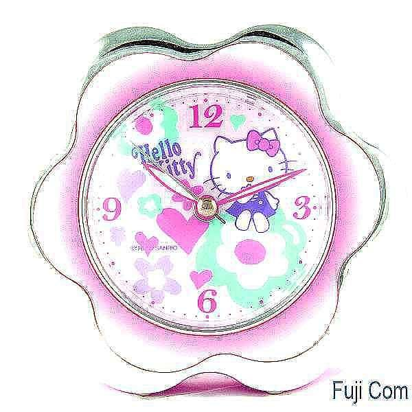 【Asiahito】HelloKitty幸運花框嗶嗶鬧鐘JM-E243KT