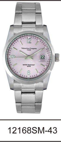 (六四三精品)Valentino coupeau(真品)(全不銹鋼)精準男錶(附保証卡)12168SM-43
