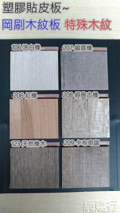 網建行 ®【岡紋木心板】4*8尺 柳安單面1400元 雙面1600元 岡刷木紋板 特殊木紋 塑膠貼皮板 櫥櫃 背板