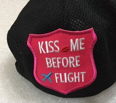 KISS ME BEFORE FLIGHT 盾牌型布章