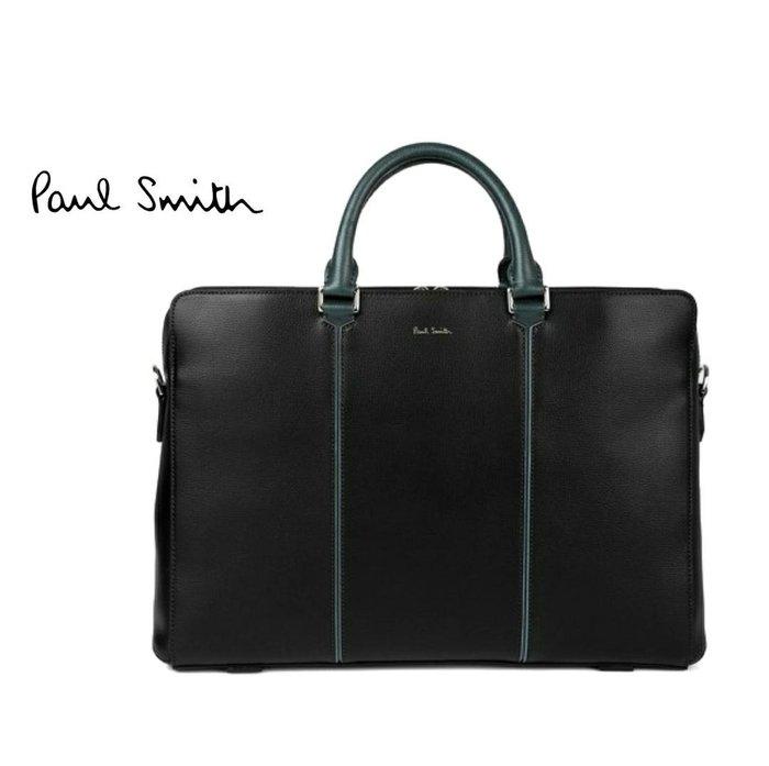 Paul Smith  ( 黑色 )  真皮 手提包 肩背包 公事包 紳士包 中性款|100%全新正品|特價!