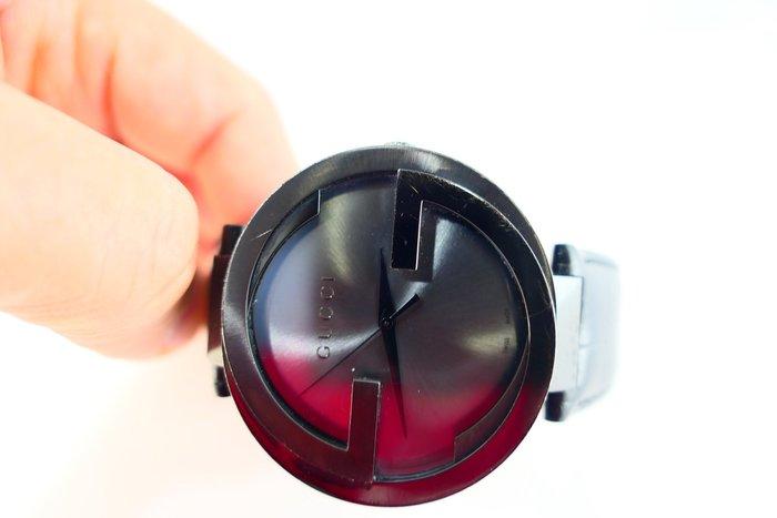 [吉宏精品交流中心]GUCCI YA133206 雙G 皮帶 石英 男錶(盒卡全)
