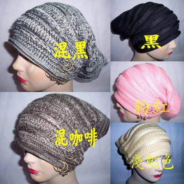 //阿寄帽舖// #07115 8 圈銅扣男女可載毛線圓帽!!