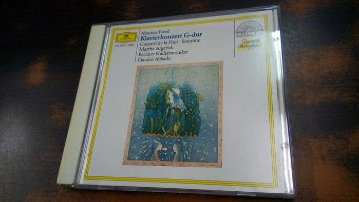 好音悅 半銀圈 Argerich 阿格麗希 Abbado Ravel 拉威爾 鋼琴協奏曲 DG 德01版 無IFPI