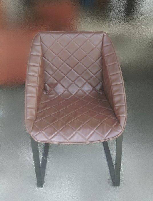 樂居二手家具 F0531AJJE 咖啡色皮餐椅 洽談椅 書桌椅 電腦椅 會客椅 2手各式桌椅拍賣【全新中古家具家電賣場】