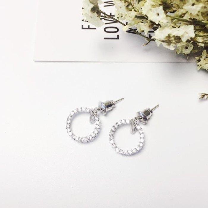 BELOCO 百搭圓環純銀耳釘女氣質韓國個性耳環簡約無BE655