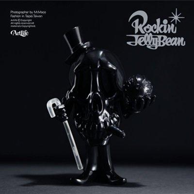 ArtLife @ Rockin Jelly Bean SKULL Mr.DEATH 日本設計師 限定黑色 骷髏爵士