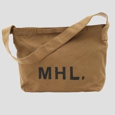 Daii[咖啡色 現貨一個,最後一張照片為日光燈下顏色]MHL(Margaret Howell)帆布 斜背包 Heavy canva