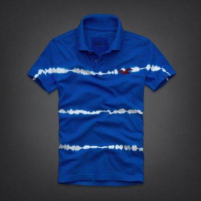 【天普小棧】HOLLISTER HCO Shaw's Cove Polo 短袖POLO衫 寶藍 M號