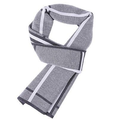圍巾 針織披肩-時尚格紋提花羊毛男配件2色73wi66[獨家進口][米蘭精品]