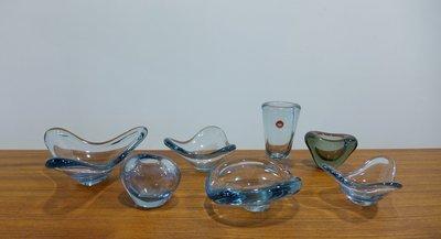 Holmegaard glass bowls and vases 丹麥手工玻璃器皿