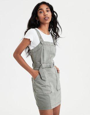 AE UTILITY DRESS OVERALL 顯瘦吊帶裙 背心裙 洋裝 美國官網限定