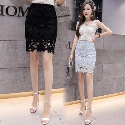蕾絲裙 短裙(零碼賠售出清、恕不退換)--高腰鏤空包臀及膝女裙子73x6 [獨家進口][米蘭精品]