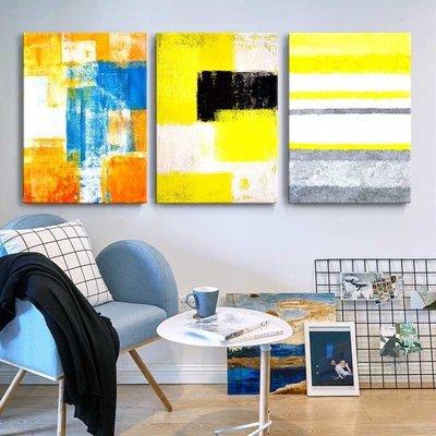 潑墨掛畫三件組【RS Home】50×70cm 抽象藝術無框掛畫相框木質壁畫北歐中式裝飾畫板民宿攞飾油畫掛鐘掛畫