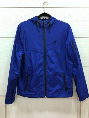 自售 二手 八成新 Nixon Caption Jacket 防風外套 深藍 S號 寶藍 防水拉鍊 連帽外套 機能