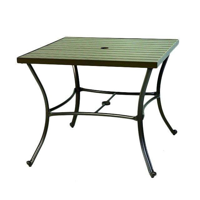 【紅豆戶外休閒傢俱】90CM鋁合金塑木方桌/餐廳用桌椅/咖啡廳桌椅/戶外休閒家具/庭院休閒桌椅/戶外休閒傘/戶外休閒桌椅