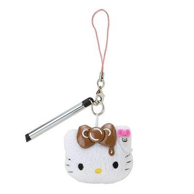 *凱西小舖*日本進口三麗歐正版KITTY凱蒂貓萬聖節派對系列觸控筆手機吊飾