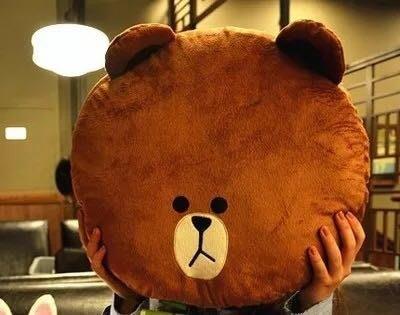 現貨😍布朗熊卡通可妮兔饅頭人可愛抱枕靠墊汽車沙發椅子護腰腰靠墊床頭