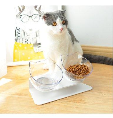 *芳之香戀香氛館* 15度傾斜保護脊椎斜口寵物雙碗 斜口碗 寵物碗 貓碗 貓食盆 寵物餐桌 貓餐桌 貓狗通用