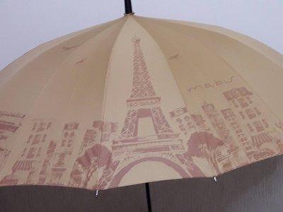 天使熊小鋪~日本帶回 mabu金色鐵塔造型 晴雨兩用直立傘~全新現貨