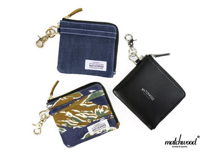 { POISON } MATCHWOOD ZIP WALLET 拉鏈皮夾 短夾 錢包 錢夾 證件 信用卡夾