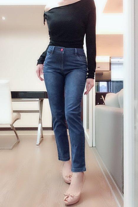 *Beauty*LAPEL藍色刷破直筒牛仔褲26號800元IR