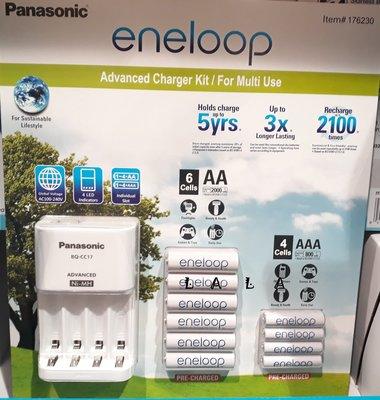 Panasonic eneloop 電池+充電器套組(附3號電池六顆+4號電池四顆) COSTCO好市多代購