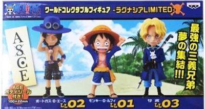 日本正版 景品 盒玩 WCF 海賊王 航海王 LAGUNASIA限定 小模型 3種組 日本代購