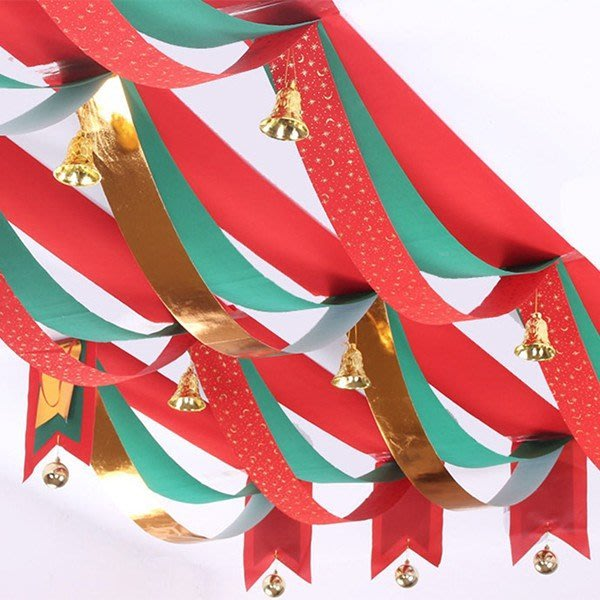 夢幻教堂聖誕波浪旗金色光球裝飾 旗幟 (100CM)【XM0107】《Jami Honey》