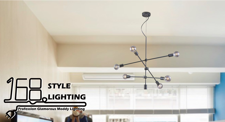 【168 Lighting】現代簡約《時尚吊燈》(兩款)黑色GK 81099-3