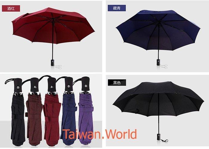 100公分大傘面自動傘_創意雙人韓國全自動傘 自開收三摺傘 折疊晴雨傘