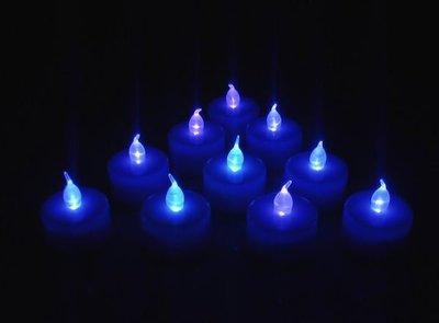 祥茂汽球館-萬聖節LED小夜燈/電子蠟燭/婚禮小物/.派對.佈置.生日.藍燈無聲控蠟燭批發價6元
