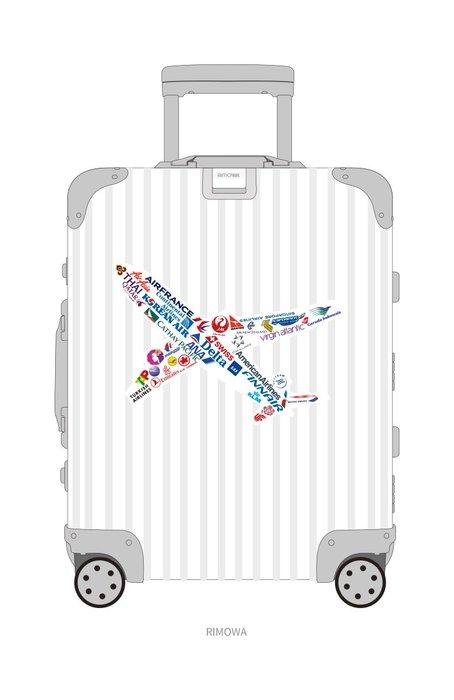 航空公司 飛機 反覆貼黏可 旅行箱贴纸 拉杆箱 行李箱贴画 滑板 冰箱贴 防水 - 大單張